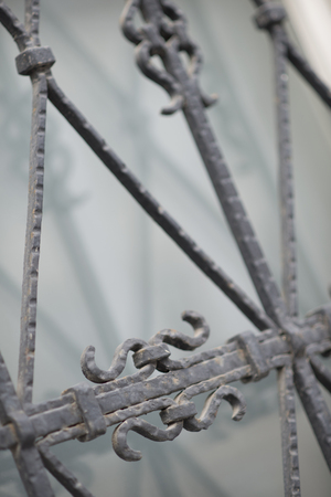 lockup: Old doors, handles, locks, lattices and windows Stock Photo