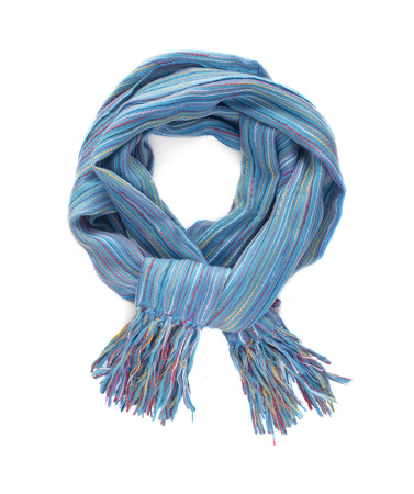 Colorful scarf on a white background. Stock Photo