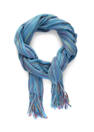 Colorful scarf on a white background.