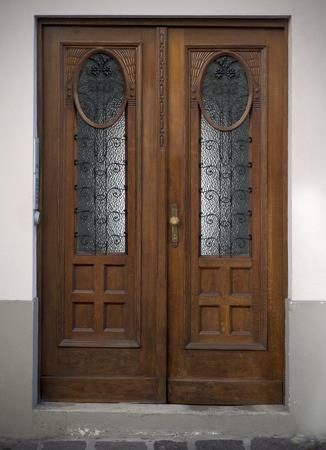 Old doors, handles, locks, lattices and windows. Ljubljana.