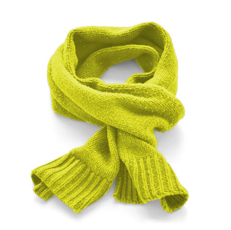 Citric warm scarf on a white background Stock Photo