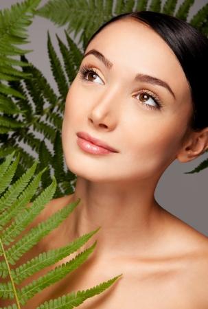 Close up portrait of a beautiful female  model Stock Photo - 17344976