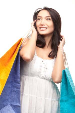 picture of lovely woman with shopping bags Stock Photo - 17344973