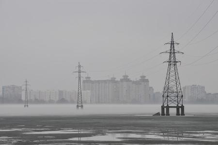 atmosphere construction: city ??landscape Stock Photo