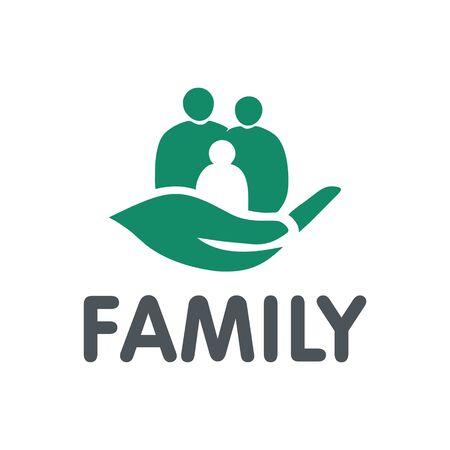 vector family, hand, care, unity