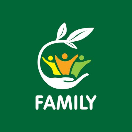 vector family, hand, care, unity Vektorové ilustrace