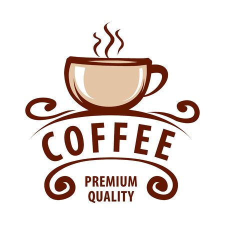 Coffee shop logo design template. Retro coffee emblem. Vector art. Illusztráció