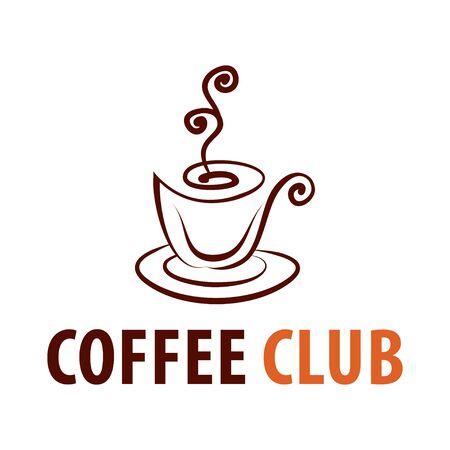 Coffee shop logo design template. Retro coffee emblem. Vector art. Illusztráció