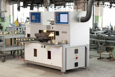 production machine in the shop during