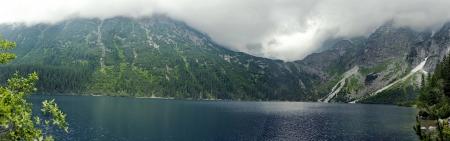 mnich: panorama of mountain lake