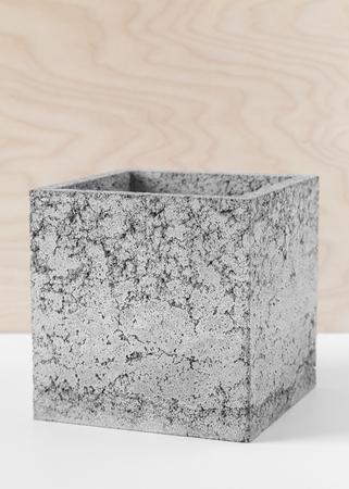 Brutale grijze pot van vezelbeton voor binnenplanten