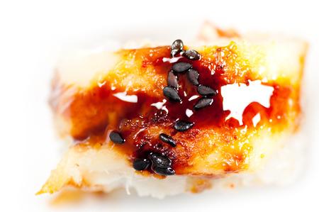maki sushi roll. macro shot