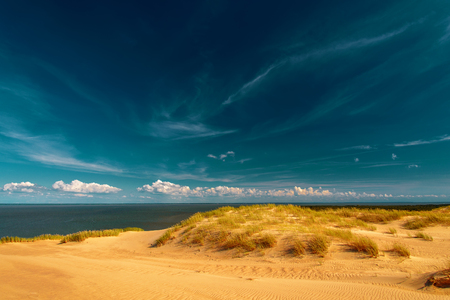 A view of the sand dunes at Nida, Lithuania. Stock Photo