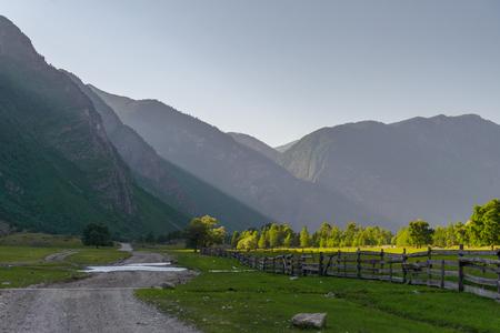 The Chulyshman River Valley in the Altai in Russia.
