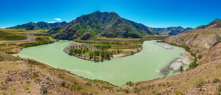 The place is the confluence of two famous altai rivers Chuya and Katun.