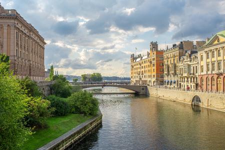 Stockholm, Sweden river cityscape. old city view 版權商用圖片 - 111768282
