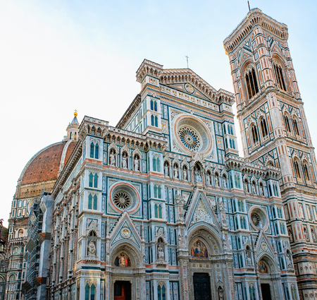 Duomo Santa Maria Del Fiore and Bargello in the morning from