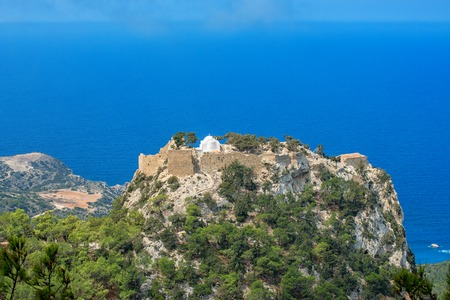 Monolithos Castle on Rhodes Island, Mediterranean Sea, Greece.