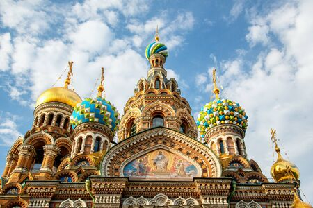 Church of the Savior on Spilled Blood, St. Petersburg, Russia 版權商用圖片