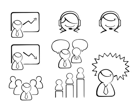 a collection of business people icon in vector illustration in Illustration
