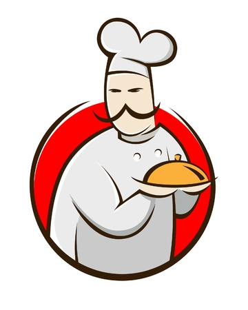 A vector illustration of a chef