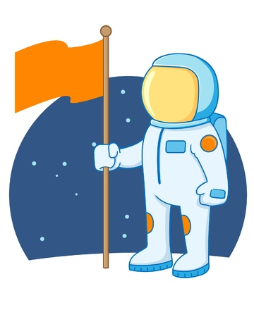 A illustration of an astronaut