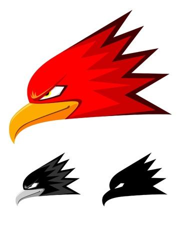 A illustration of a eagle head