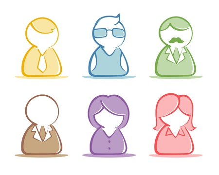 A collection of a Business people icon in  illustration Stock Vector - 20232242
