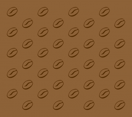 illustration of a coffee bean pattern Illustration