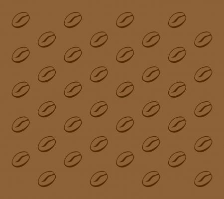 illustration of a coffee bean pattern Illustration