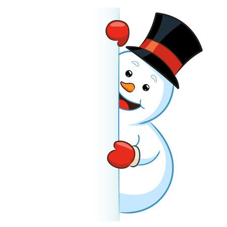Snowman Peeking