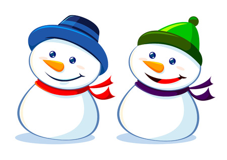 Two Snowman Illustration
