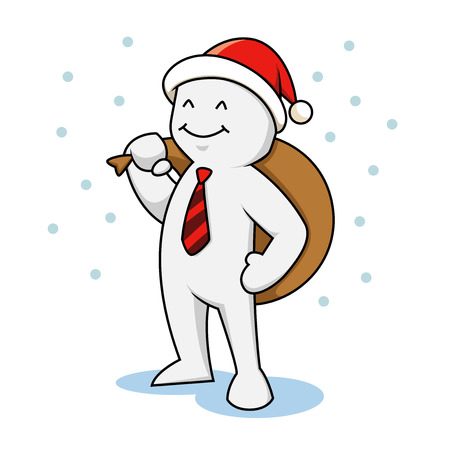 Businessman with santa hat