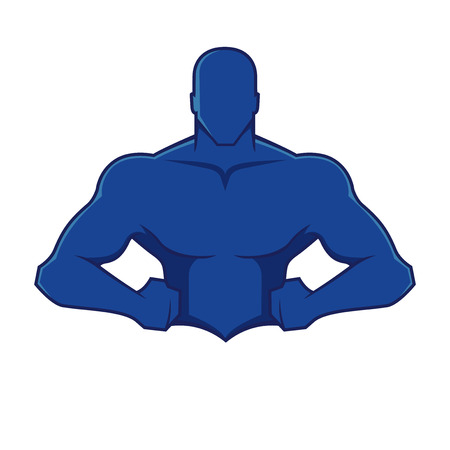 Muscle man figure Vector
