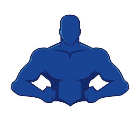 Muscle man figuur