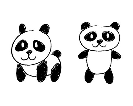 Panda Illustraion Illustration