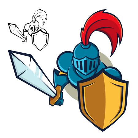 Ridder met schild en zwaard
