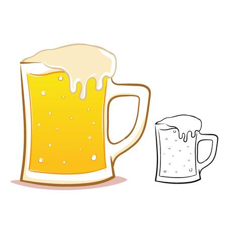 Beer glass illustration Illustration