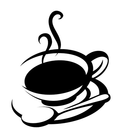 sillhouette: coffee cup sillhouette Illustration