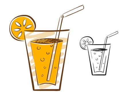 Juice Glass Illustration