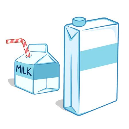 carton de leche: Ilustraci�n del cart�n de la leche