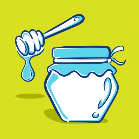 Honey Jar - Blue Series Vector
