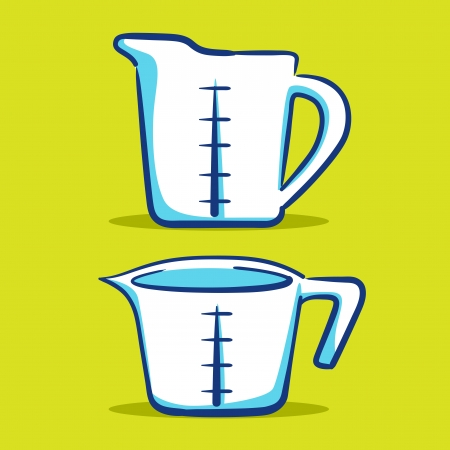 measuring cup: Measuring Cup - Blue Series