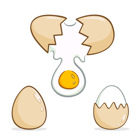 broken egg: Eggs