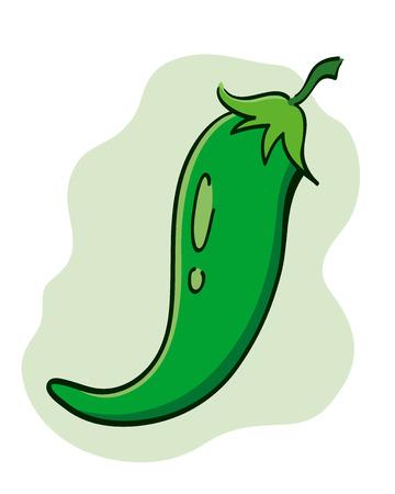 peper: Green chili peper