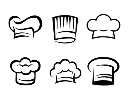 chef s hat: Chef hat collection Illustration