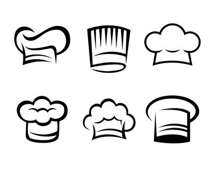 Chef hat collection Illusztráció