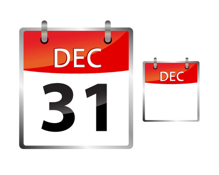 31: Calendar Date December 31 Illustration
