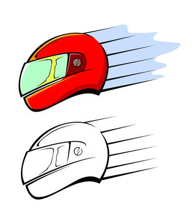 Racing Helmet illustration