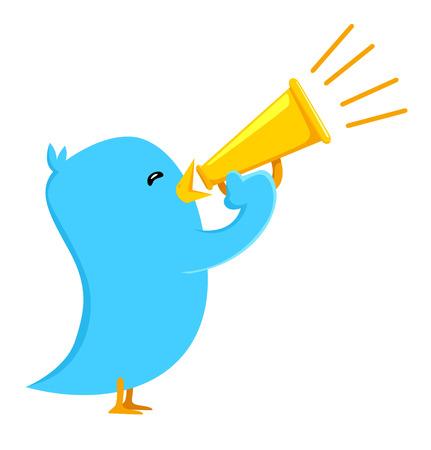 tweeter: Tweeter bird shout Illustration
